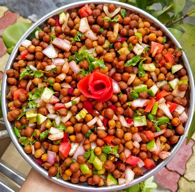Chana Chaat/ Kala Chana Chaat/ Black Chickpea Salad Recipe | Breakfast Care