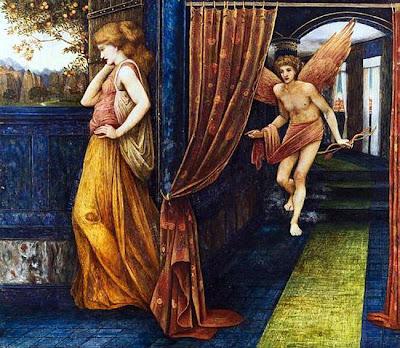 John Roddam Spencer Stanhope - Cupid and Psyche, 1880