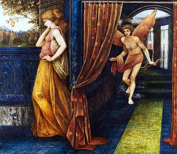 John Roddam Spencer Stanhope - Cupid and Psyche, 1880