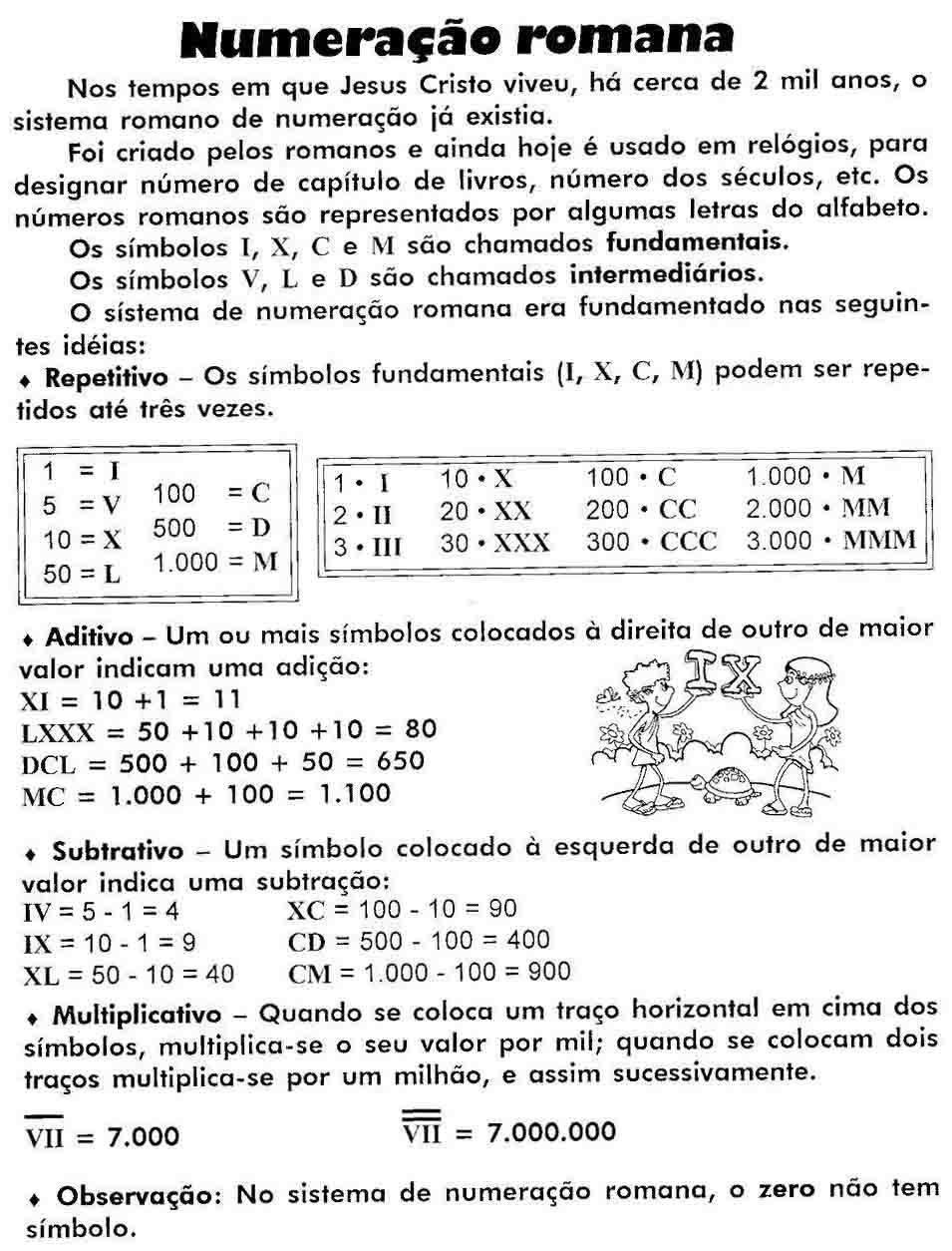 Conceito De Numera    O Romana   Postado No Grupo Professores