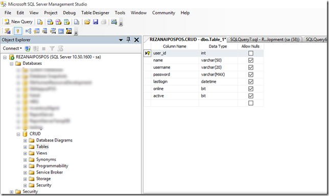 Database & Model Design Table