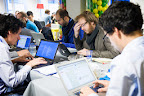 French team Contexte during EUhackathon 2014 at Googleplex in Brussels, Belgium on 02.12.2014