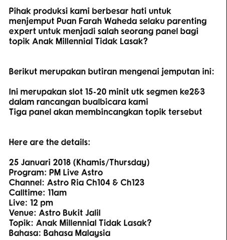 2018 Highlights! Kak Fa di p.m. live Astro Ria, Astro Ria HD (1)