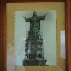 Fotografía de la construcción del Cristo Rey