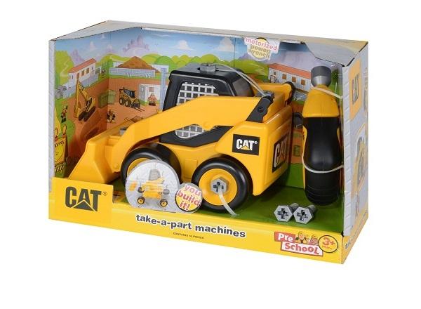 Xe xúc đất nhỏ CAT và dụng cụ lắp ráp