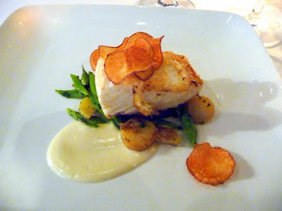 Mistral Kitchen, Seattle, chef's dinner, Alaskan Halibut with potatoes
