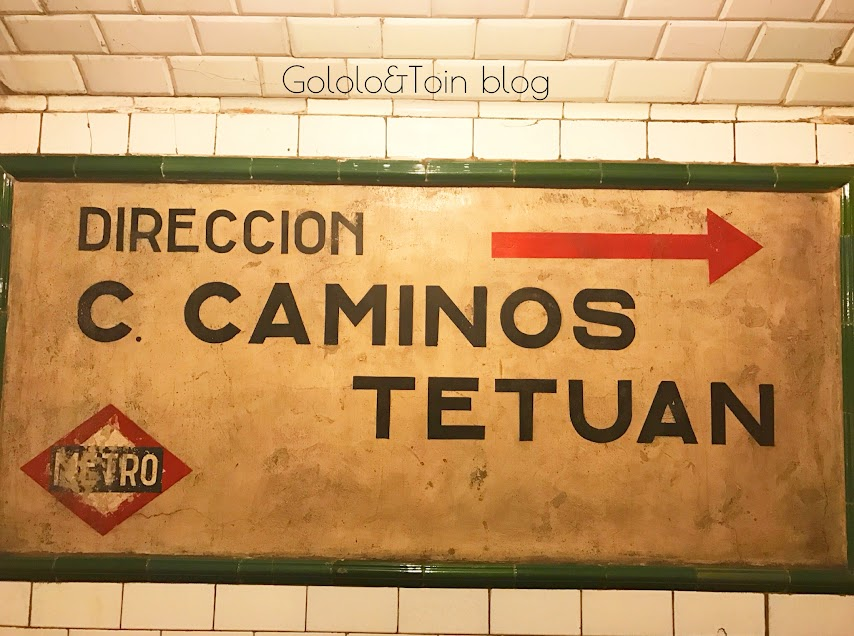 Cartel Metro de la estación fantasma de madrid