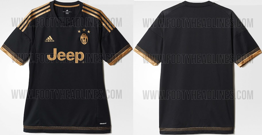 e2ee0a315e0 Juventus 2015-16 Home Away Kits (Released) Third Leaked
