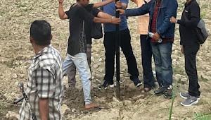 Pewarta Polrestabes Medan Pasang Plang di Lokasi Perumahan Pewarta