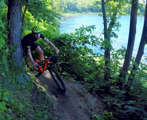 Josh Bauer lakeside, Twin Lakes singletrack