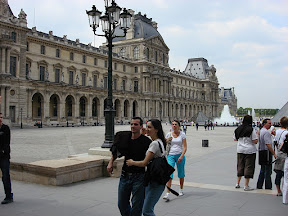 I kept trying to find a shot that would capture how large the Louvre is, but it's just not possible from the ground.