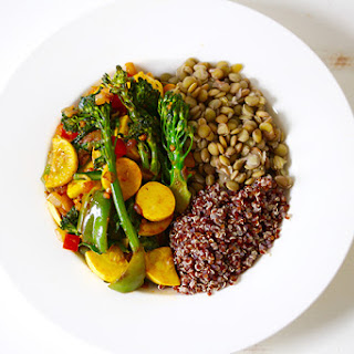 The 28-Day Shrink Your Stomach Challenge Lentil Quinoa Bowl.