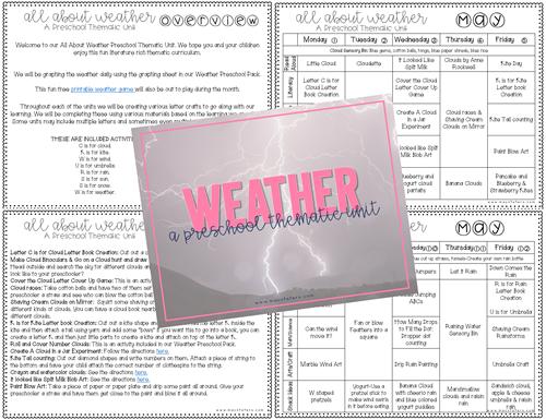 Weather Preschool Unit Plans & Resources