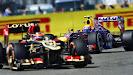 Mark Webber follows Kimi Raikkonen