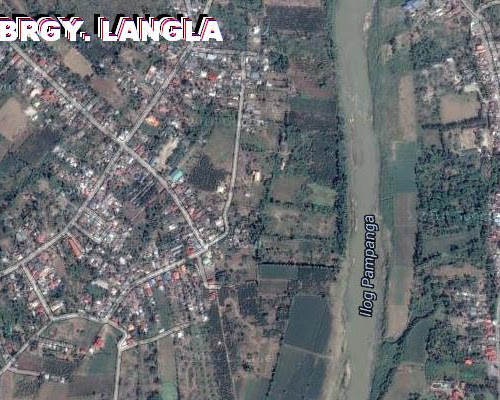 satellite image of langla