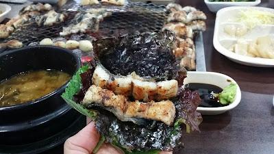 伊林: 弘大 風川炭燒鰻魚 2016
