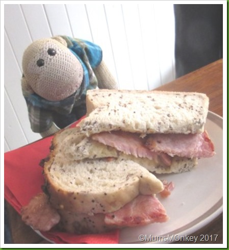 Moo Moos Bacon sandwich