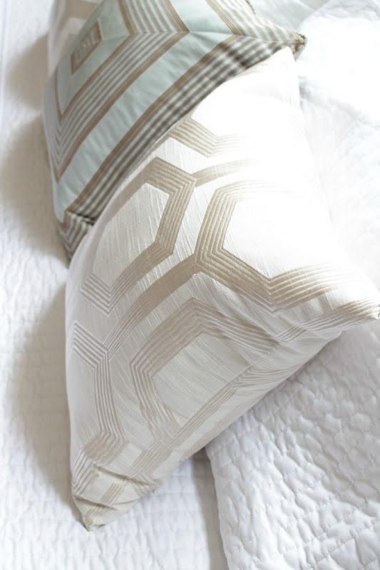 Master Bedroom Makeover Silk Pillows