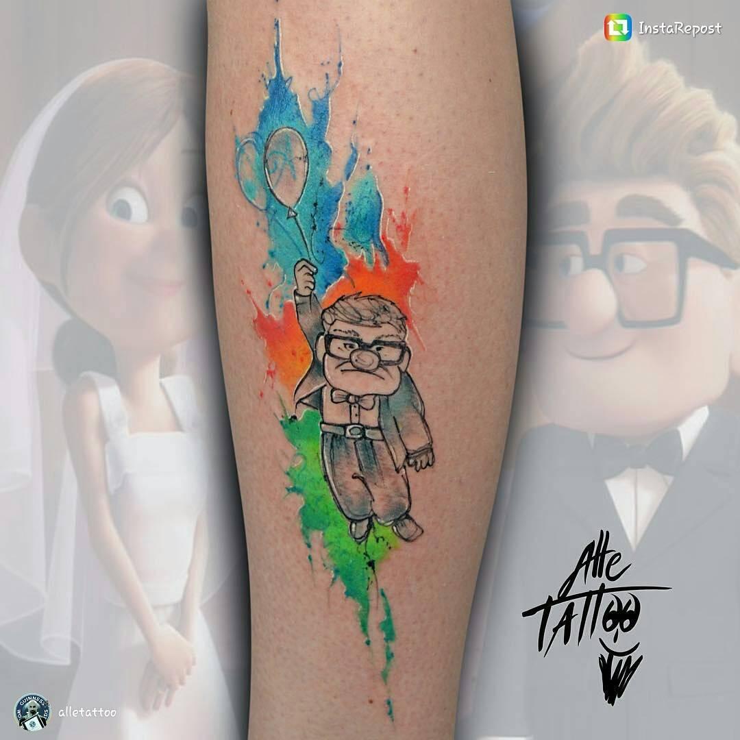 11 increíbles tatuajes inspirados en personajes de Pixar