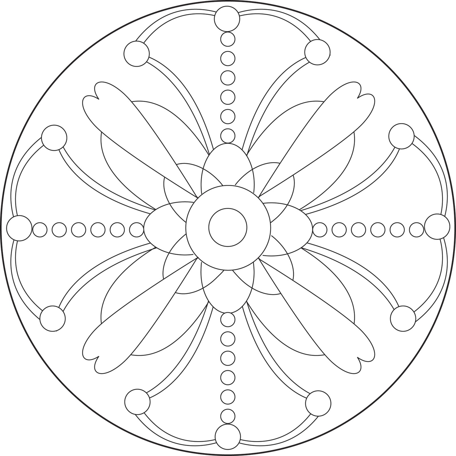 Hd Easy Mandala Designs To Draw Coloring Pages Images