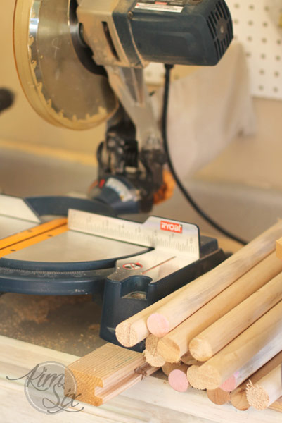 Cutting down dowels with jig saw