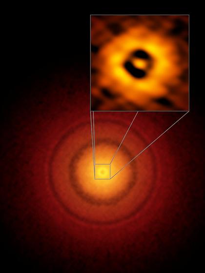 estrela próxima TW Hydrae e seu disco protoplanetário