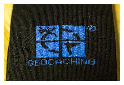GeoXantike 2015 - Die Socke mit dem Geocaching-Logo
