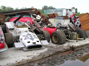 Abandoned 1970s F1 Cars