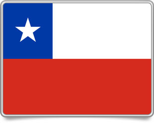 Chilean framed flag icons with box shadow