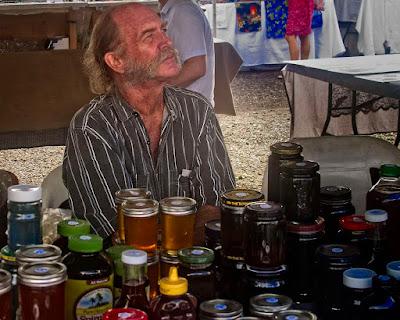 Honey Vendor at Maku'u Sunday Market