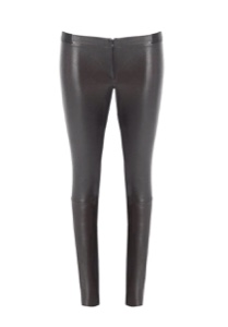 Review of the front-zip leather leggings