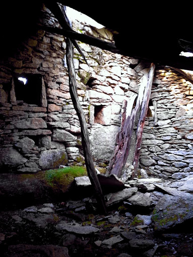 the inside of an old house inside the 'lost village'
