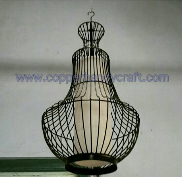 lampu gantung restoran minimalis tembaga