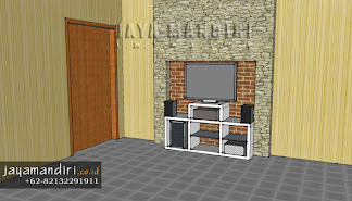 visualisasi 3D wallpaper jaya mandiri interior