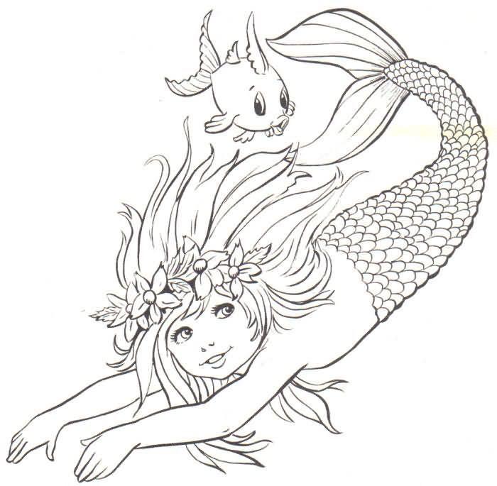 Dibujo de Sirena para colorear