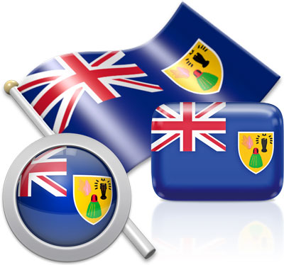 Turks and Caicos Island flag icons pictures collection