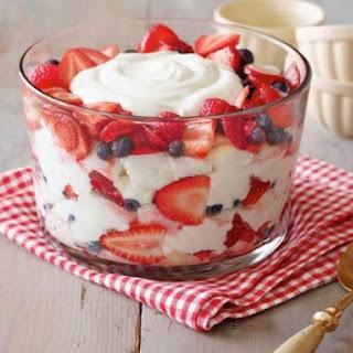 Summertime Angel Food Trifle.