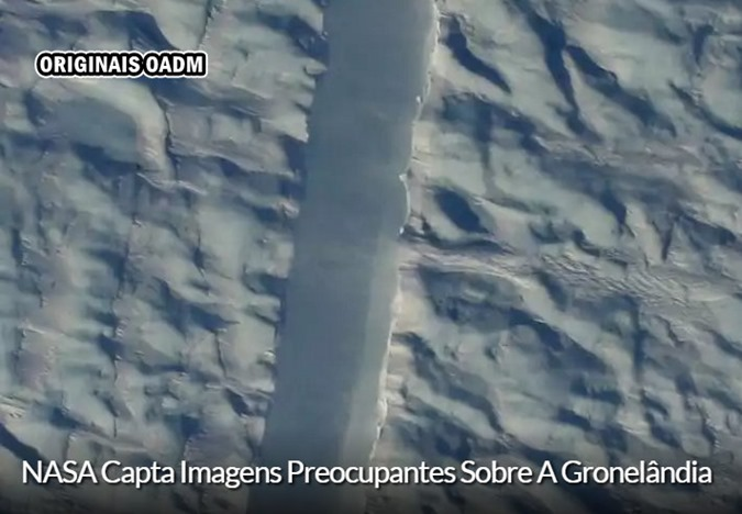 NASA CAPTURA FOTOS PREOCULPANTES NA GROELANDIA
