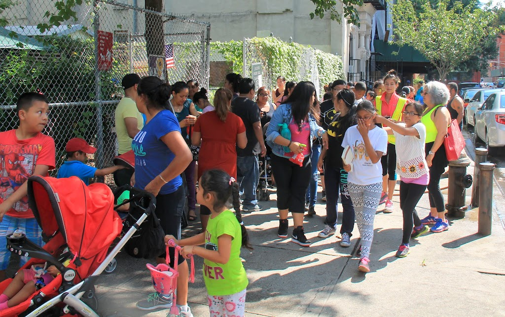 Some of our families split off to visit a school supplies giveaway event