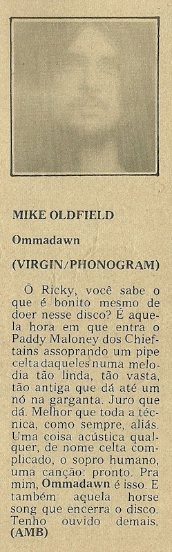 Mike Oldfield, Ommadawn - Jornal de Música 1978-01