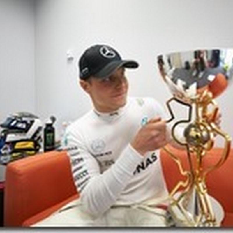 Bottas è il 107esimo pilota a vincere una gara di F1