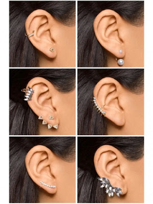 BaubleBar Play By Ear Cuffs Jackets Crawlers Statement Earring Set