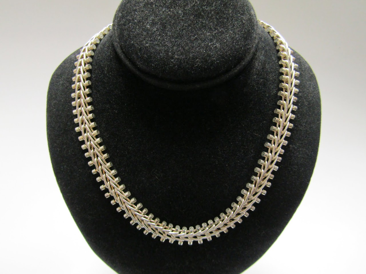 Sterling Silver Track-Chain Necklace