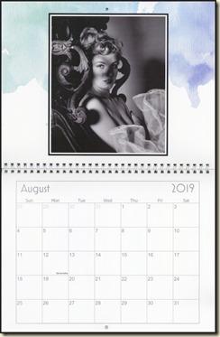 Eva Lynd 2019 calendar - August Eva