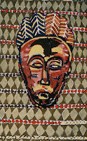 Maitland. African Mask. Oil on canvas. (PA21: £---) 75 x 122 cm. 1992. www.maitland-gallery.co.uk