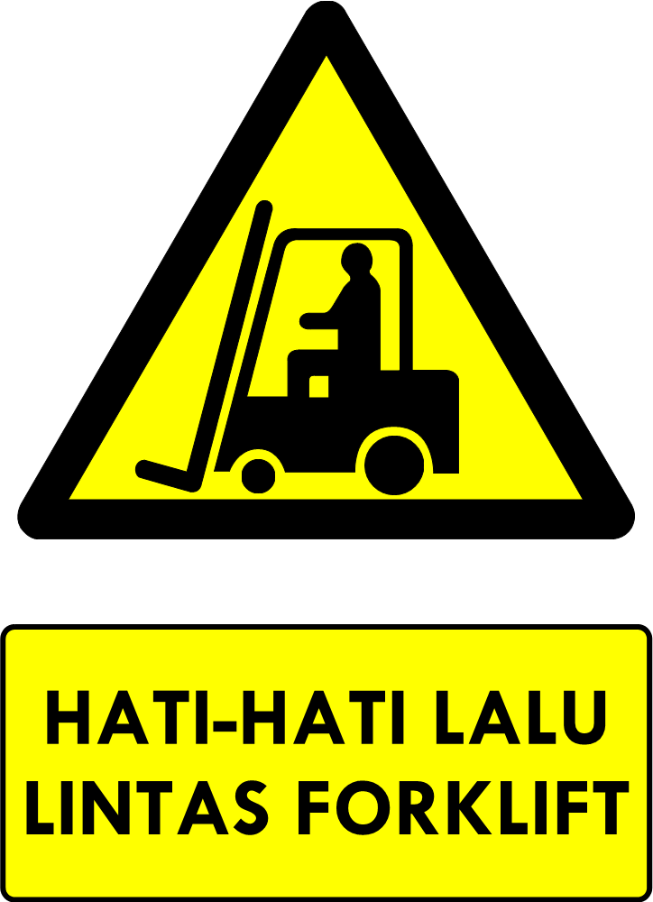 Rambu Bahaya Lalu-lintas Forklift