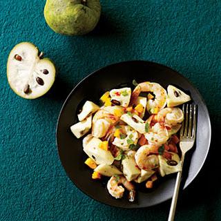 Cherimoya with Chile Lime Shrimp.