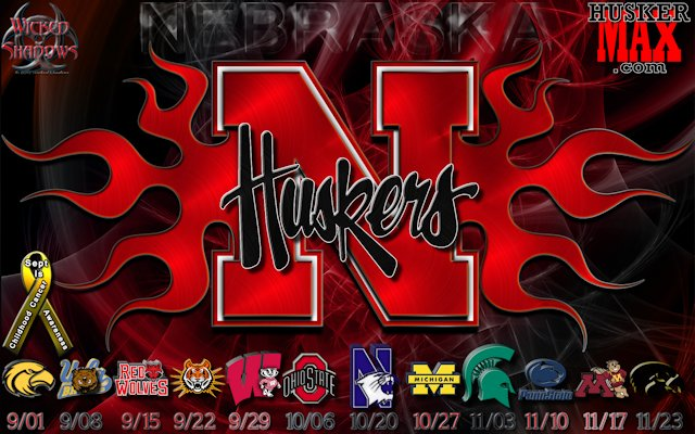 Nebraska Huskers 2012 football schedule wallpaper