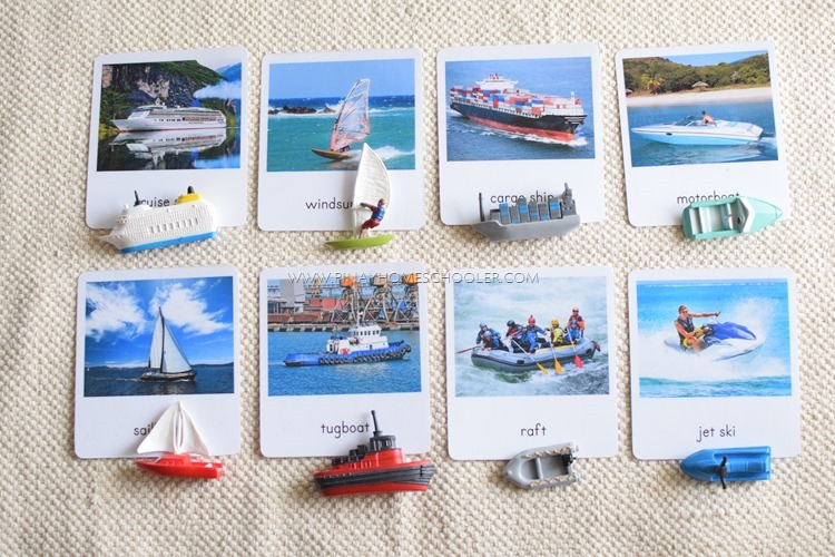 Water Transportation 3 Part Cards