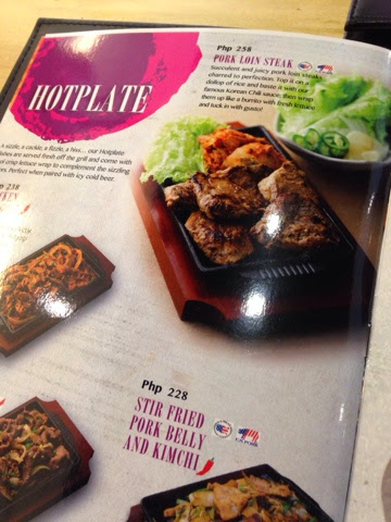 take a glimpse on their menu first everything is to share and the price is fair enough - Seoul Garden Menu